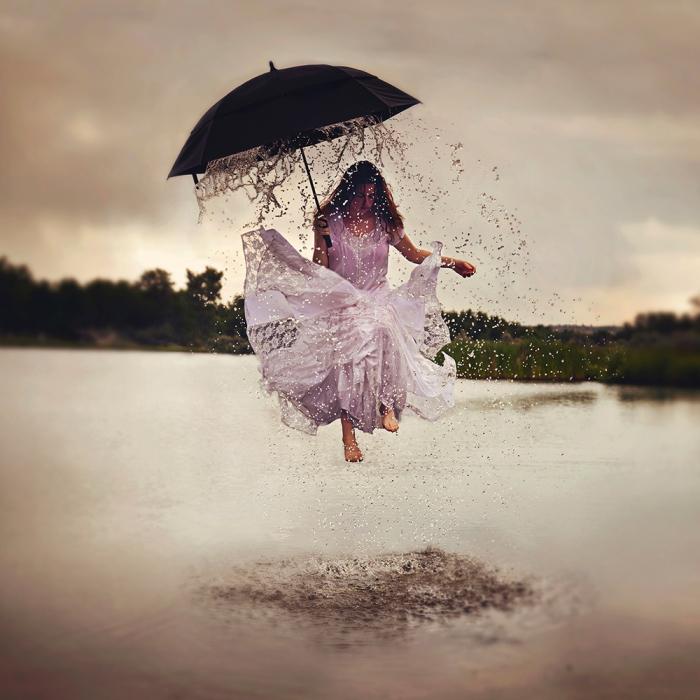 Летний дождь. Автор фото: Дженна Мартин (Jenna Martin).