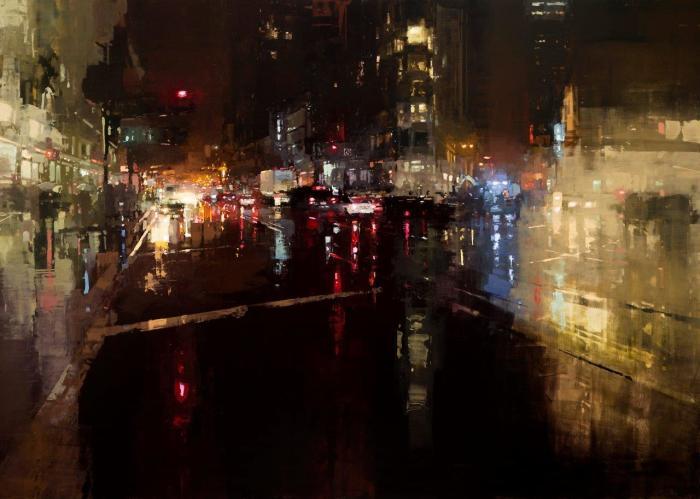 Вечер на Маркет стрит. Автор: Jeremy Mann.