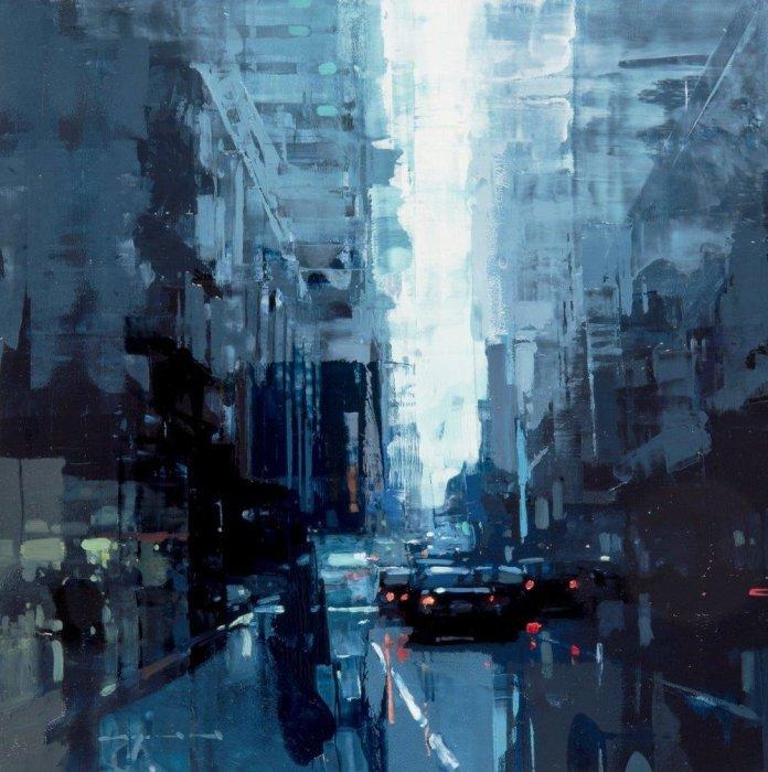 Одиночество в синих тонах. Автор: Jeremy Mann.
