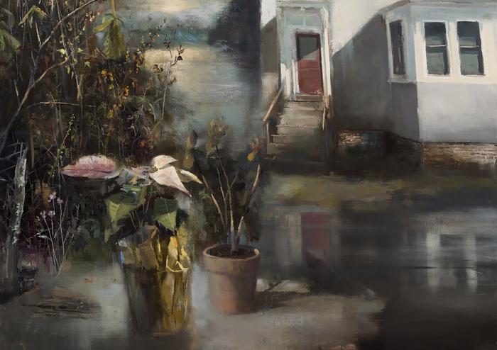 Интерьеры, соединённые с пейзажами в картинах Джереми Миранда (Jeremy Miranda).