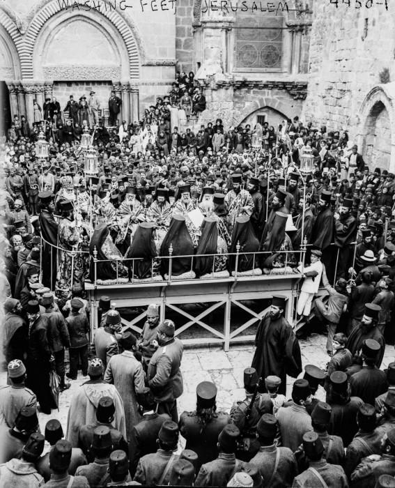 Православный обряд омовения ног, 1915 год.