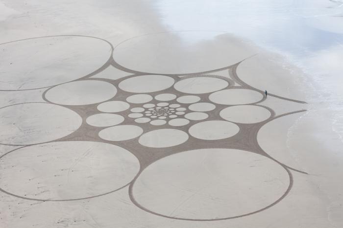 Песочные узоры. Автор: Jim Denevan.