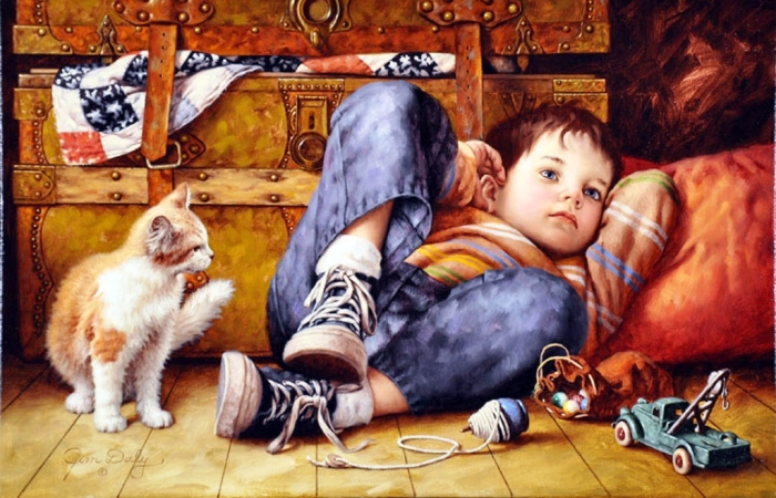 Беззаботное детство. Автор: Jim Daly.