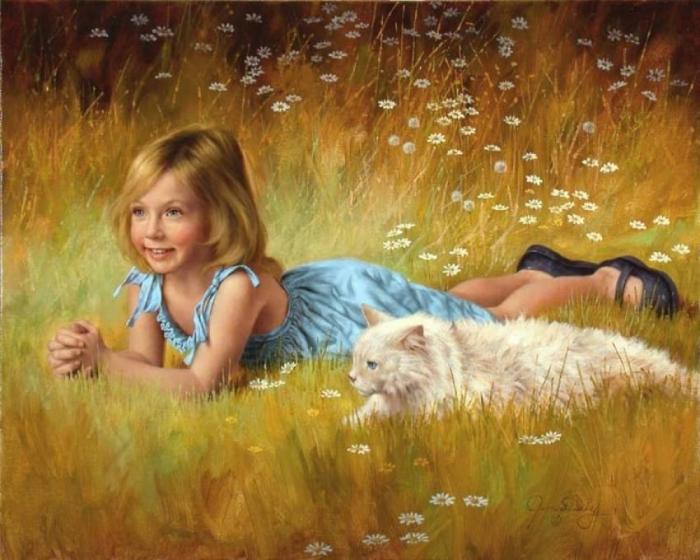Ромашковое поле. Автор: Jim Daly.