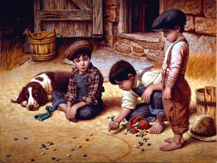 Игры в камушки. Автор: Jim Daly.