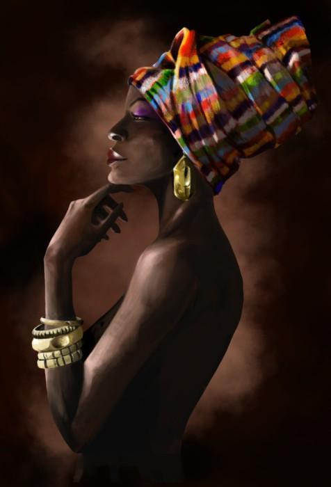 Экзотические африканские наряды. Автор: Joana Choumali.