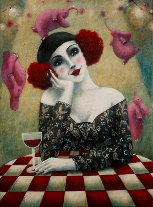 Бокальчик красного вина. Автор: Johanna Perdu.