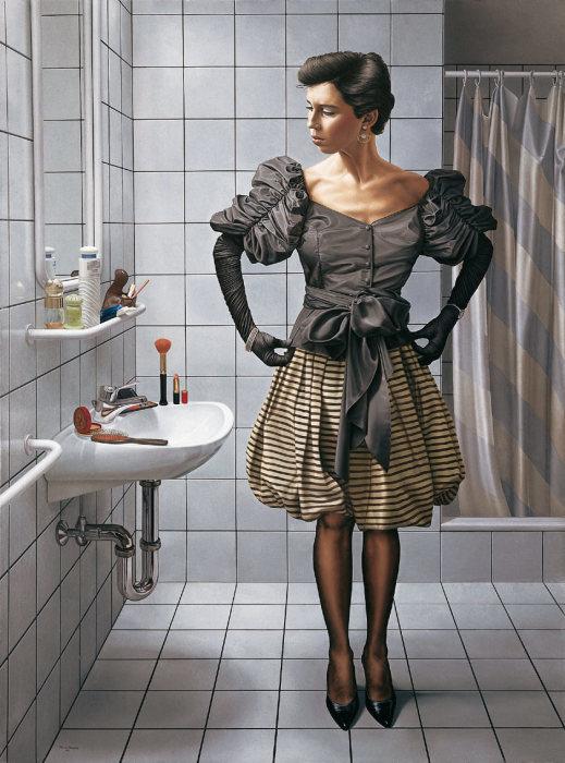 Женщина в длинных перчатках. Автор Johannes Muller-Franken.