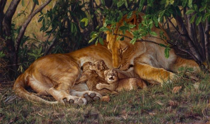 Заботливая мама. Автор: John Banovich.