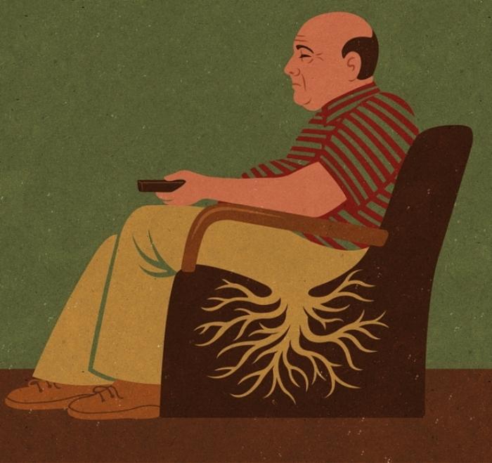 Телевизионная зависимость. Автор: John Holcroft.