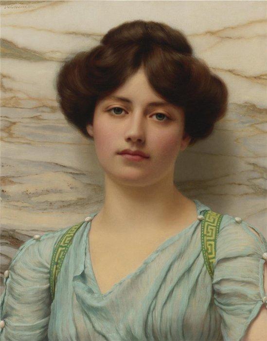 Античная красавица, 1910 год. Автор: John William Godward.