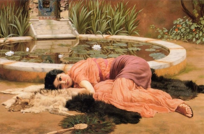 Прекрасное далёко, 1904 год. Автор: John William Godward.