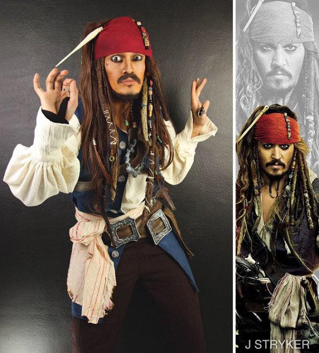 Джек Воробей из пиратов Карибского моря. Автор: Jonathan Stryker.