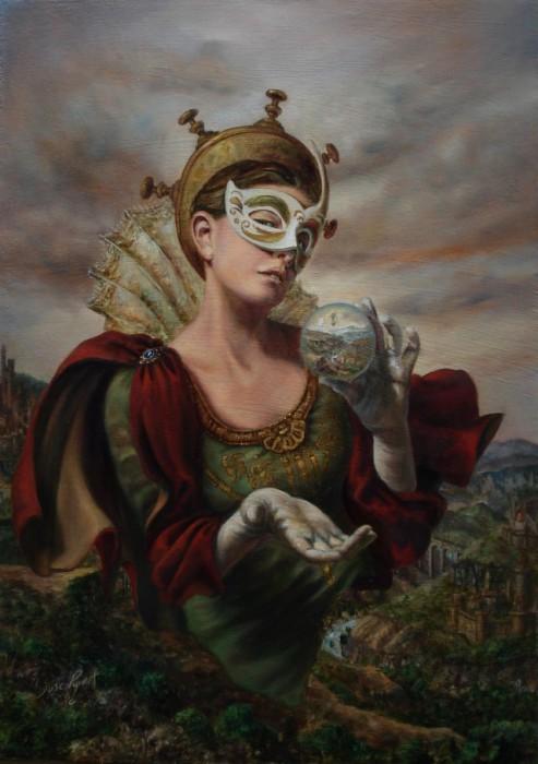 Хрустальный шар. Работы современного художника Хосе Парра (Jose Parra).