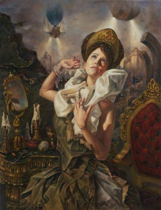 Мечтательница. Работы современного художника Хосе Парра (Jose Parra).