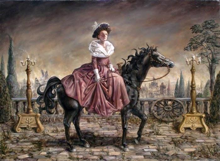 Дама едет на бал. Работы современного художника Хосе Парра (Jose Parra).