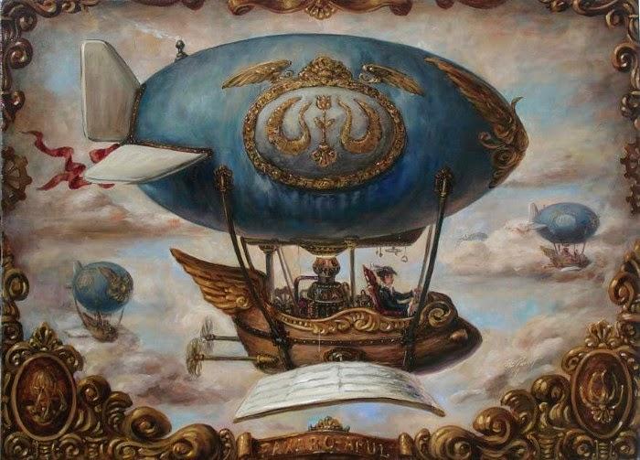 Стимпанк. Работы современного художника Хосе Парра (Jose Parra).