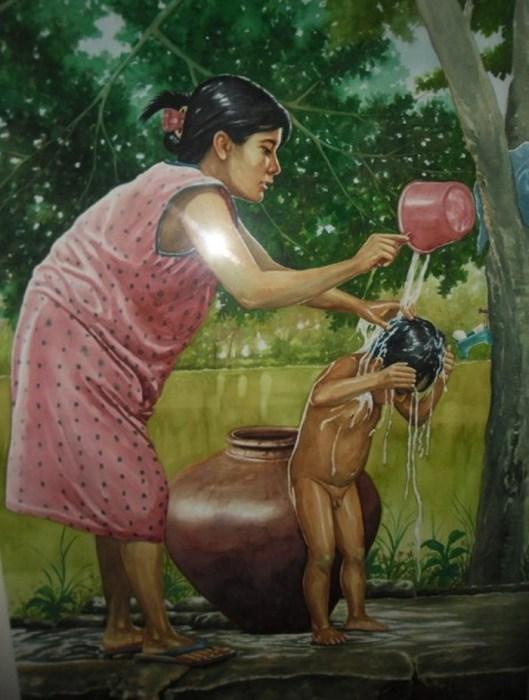 Мама и ребёнок. Автор: Jose Vistan.