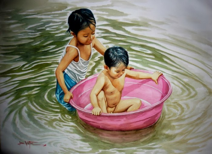 Ванная лодка. Автор Jose Vistan.