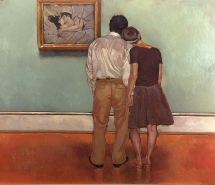 Влюблённые и Лотрек. Автор: Joseph Lorusso.