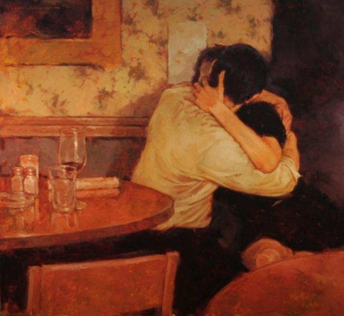 В кафе. Автор: Joseph Lorusso.