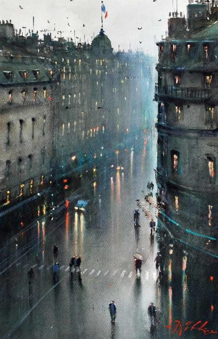 Дождливый вечер. Автор: Joseph Zbukvic.