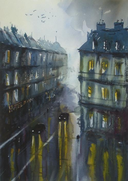 Городские огни. Автор: Joseph Zbukvic.