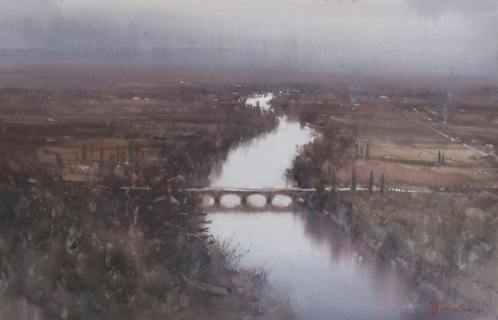 Мост через реку. Автор: Joseph Zbukvic.