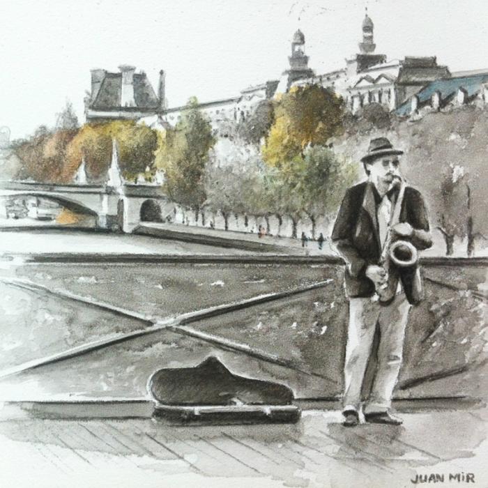 Музыкант. Автор: Juan Mir.