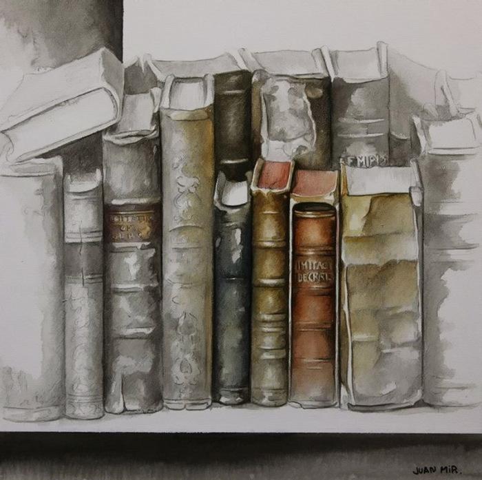 Старенькие книги. Автор: Juan Mir.