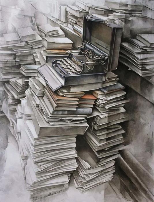 Старенькая печатная машинка. Автор: Juan Mir.