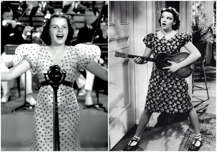 Слева: Первый полнометражный фильм с Джуди «Кожаный парад» 1936 год. \ Справа: Фильм «Чистокровки не плачут». \ Фото: google.com.