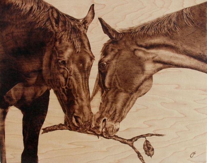 Лошади - грациозные животные. Автор: Julie Bender.