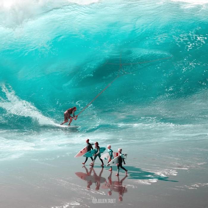 На гребне волны. Автор: Julien Tabet.