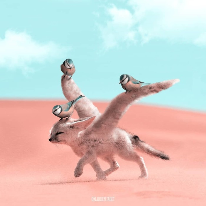 Пустынный зверь. Автор: Julien Tabet.