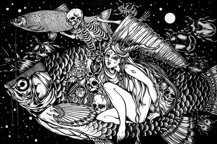 Отношения. Волшебные рисунки художника Julliane.