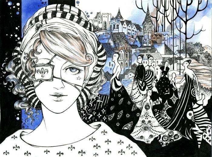 Из серии готический стиль. Волшебные рисунки художника Julliane.