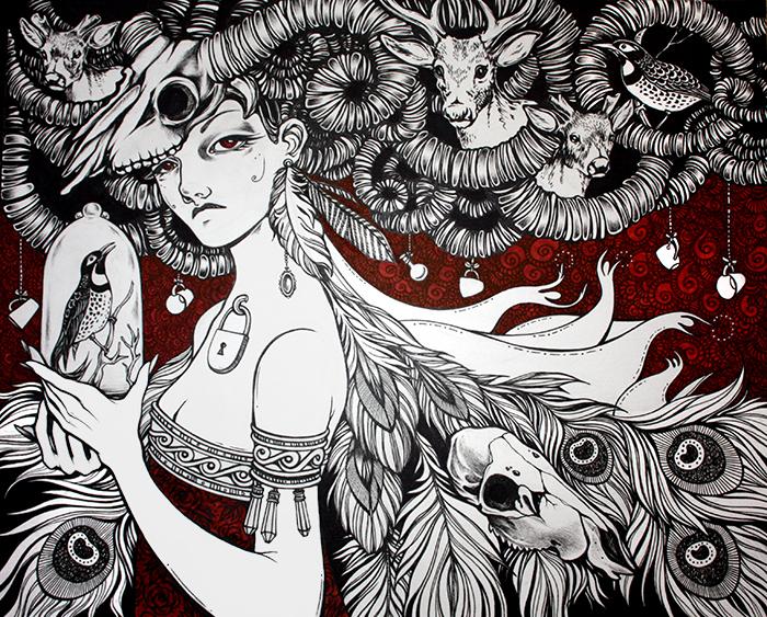 Безголосые. Волшебные рисунки художника Julliane.
