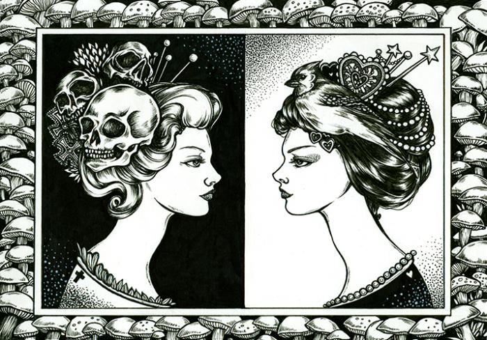 Она - не я. Волшебные рисунки художника Julliane.