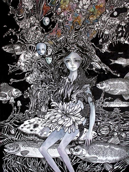 Пробуждение. Волшебные рисунки художника Julliane.