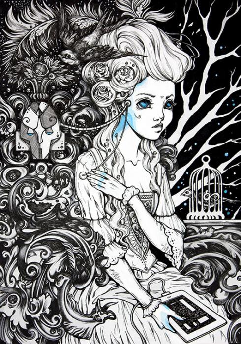 Машина мечты. Волшебные рисунки художника Julliane.