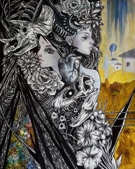 Воображение. Волшебные рисунки художника Julliane.