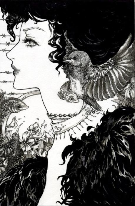 Чернила. Волшебные рисунки художника Julliane.
