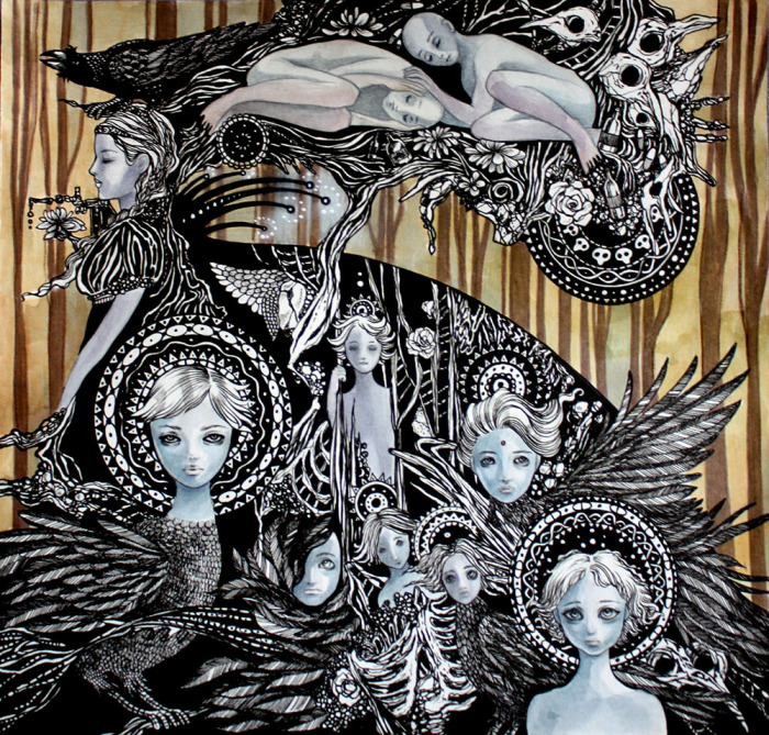 Похищение детей. Волшебные рисунки художника Julliane.