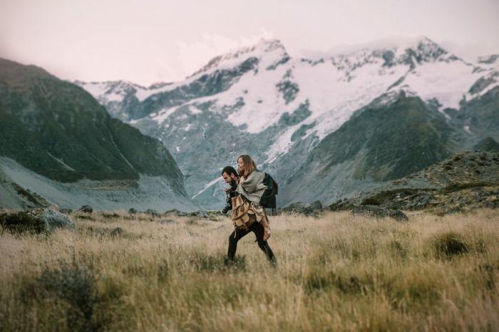 Национальный парк Гора Кука в Аораки, Новая Зеландия.