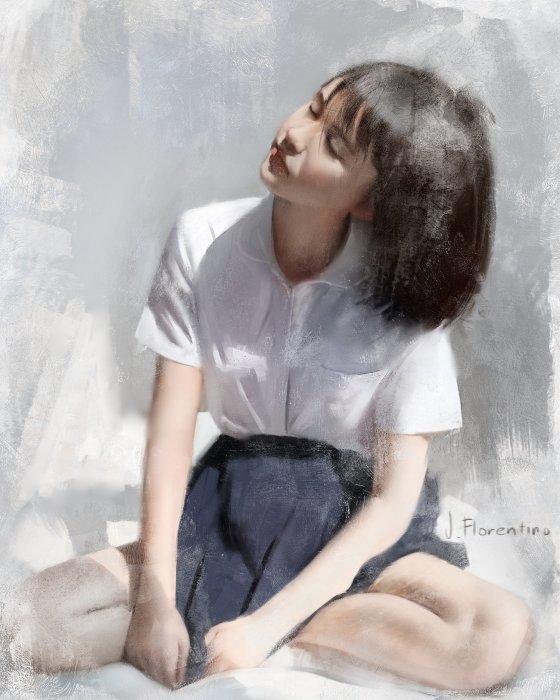 Азиатка. Автор: Justine Florentino.
