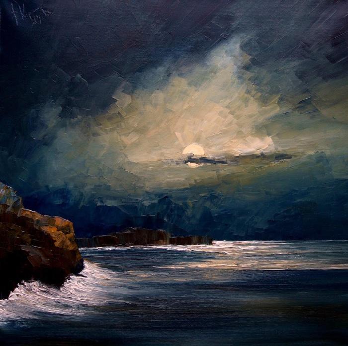 Лунная ночь. Justyna Kopania.