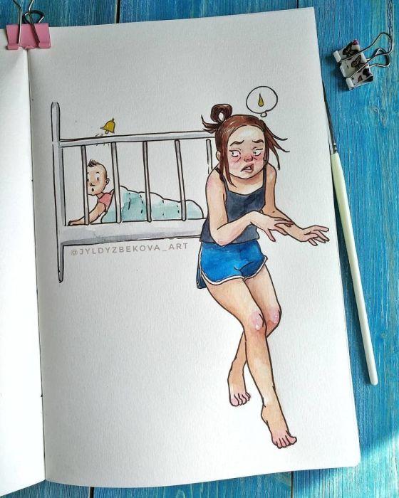 Только бы не разбудить. Автор: Jyldyz Bekova.