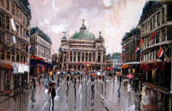 Дождь на улицах города. Автор: Kal Gajoum.