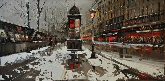 Зимний вечер. Автор: Kal Gajoum.
